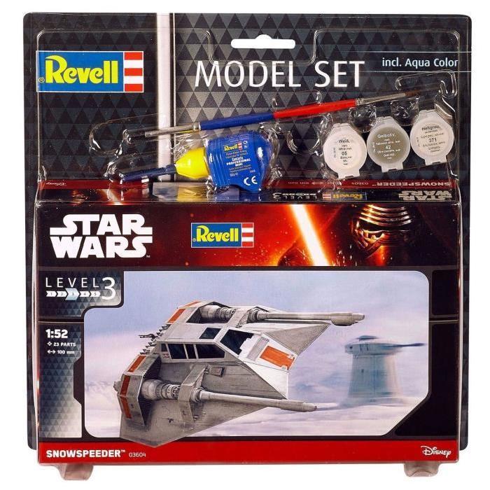 STAR WARS Model Set Snowspeeder Maquette a Construire, a Coller et a Peindre, Avec Accessoires