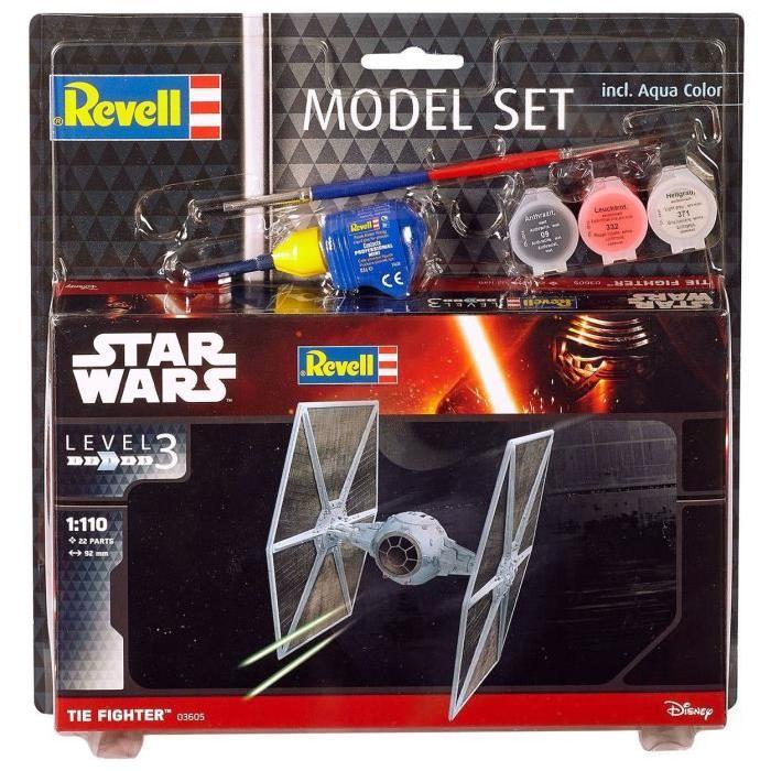 STAR WARS Model Set TIE Fighter Maquette a Construire, a Coller et a Peindre, Avec Accessoires