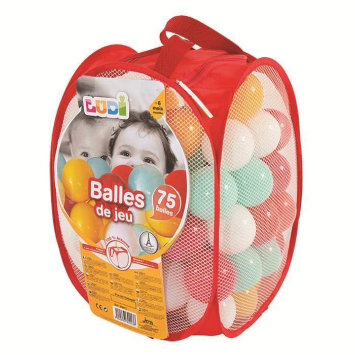 LUDI 75 Balles de Jeu Rouges