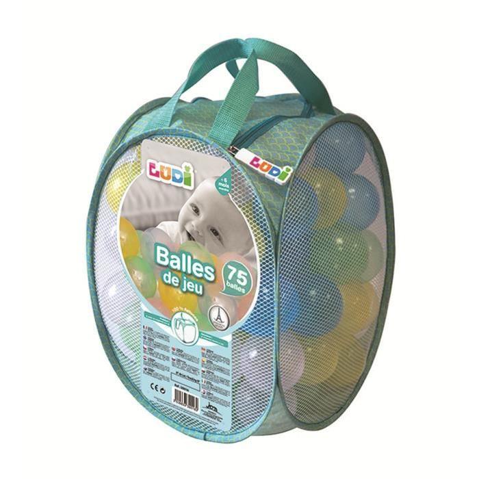LUDI 75 Balles de Jeu Transparentes