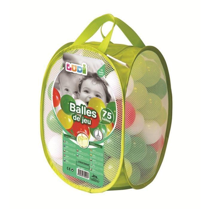 LUDI 75 Balles de jeu Vertes