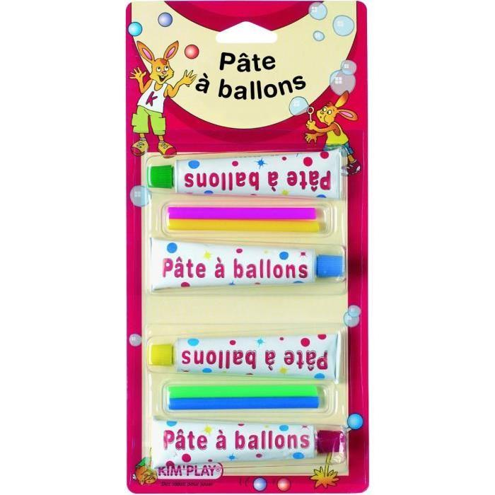 KIMPLAY Pâte a ballons x4+ pipettes