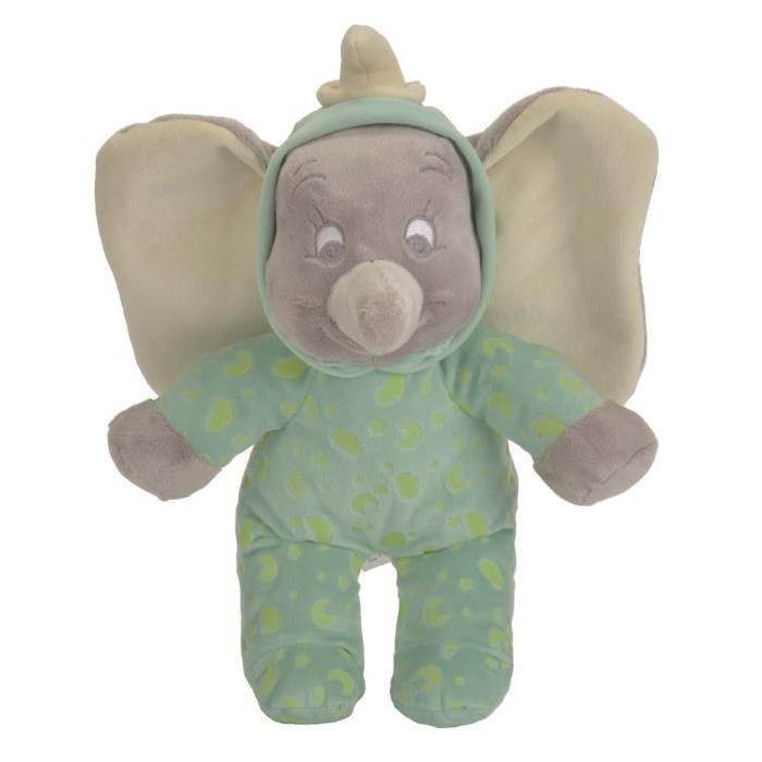 DUMBO L'ELEPHANT Peluche Verte qui brille dans le noir 25 cm - Disney