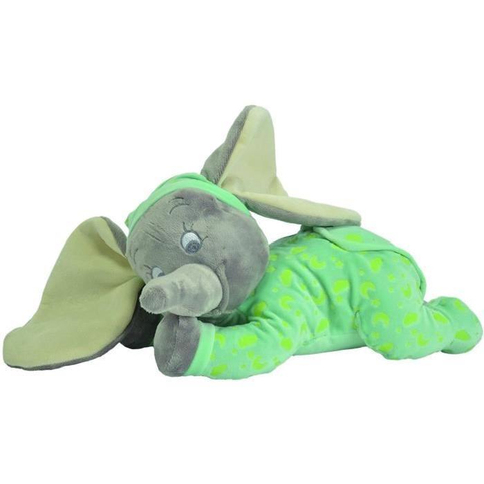 DUMBO L'ELEPHANT Peluche Dumbo qui brille dans le noir 30cm - Disney