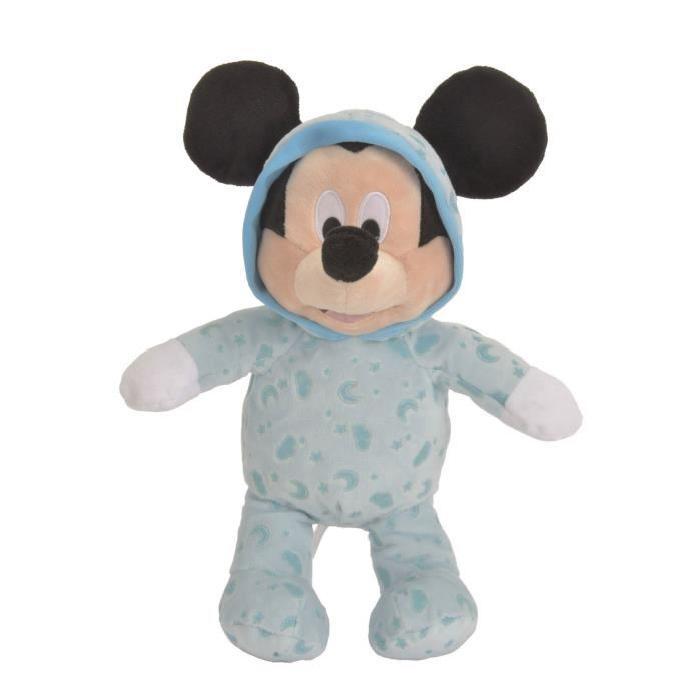 MICKEY MOUSE Peluche Bleu 25cm - Disney