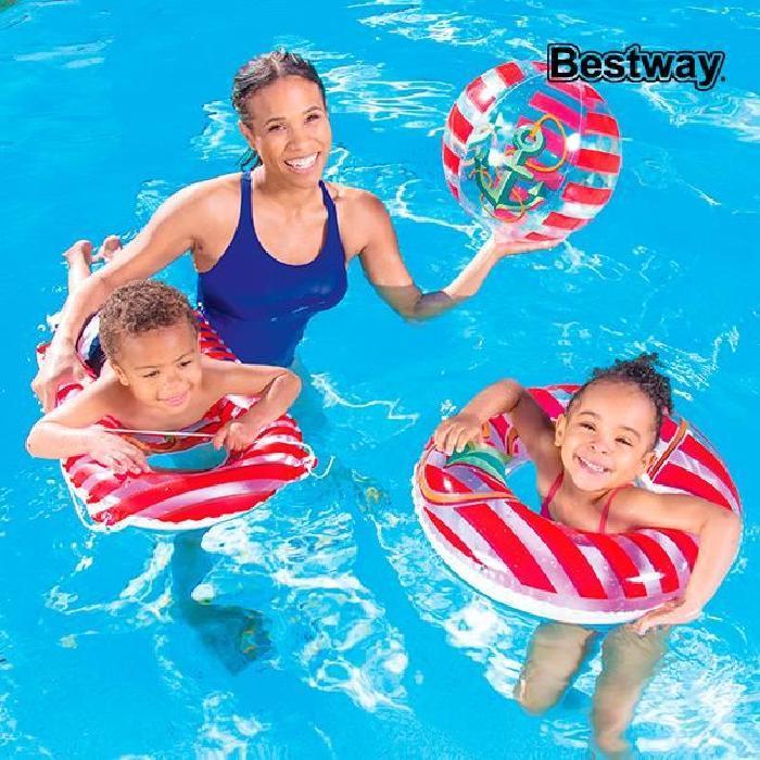 BESTWAY Set de plage : Bouée / Ballon et matelas gonflables