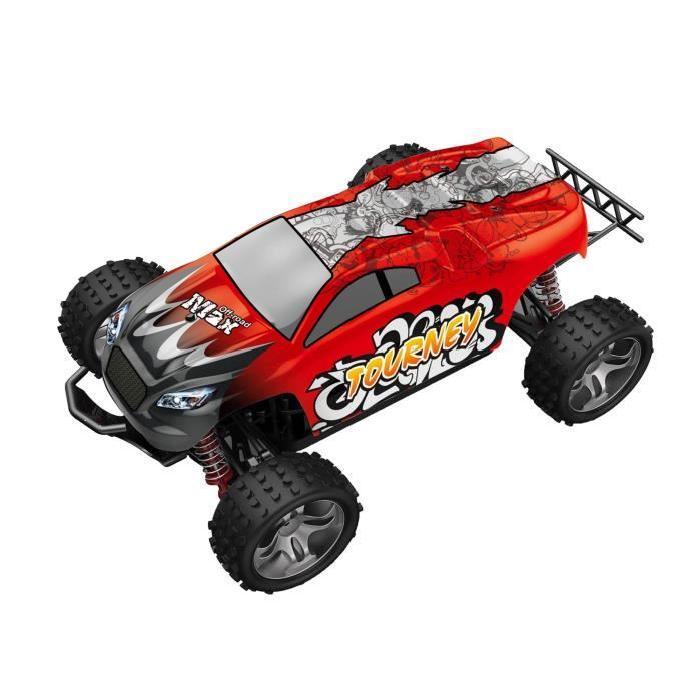 MGM Voiture 4X4 Rally Raid télécommandé 27cm - Coque Rouge