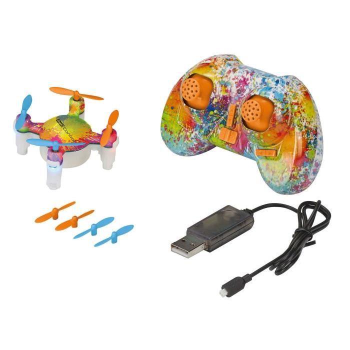 REVELL Mini Drone Nano Quad FUN Coloré multicolore