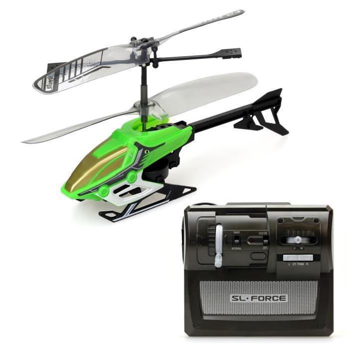 SILVERLIT Hélicoptere Télécommandé Vert Alpha Y I/R  2 Canaux