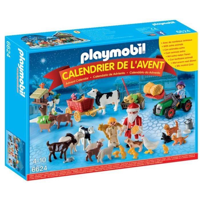 """PLAYMOBIL 6624 Calendrier de l'Avent """"Pere Noël a la ferme"""""""