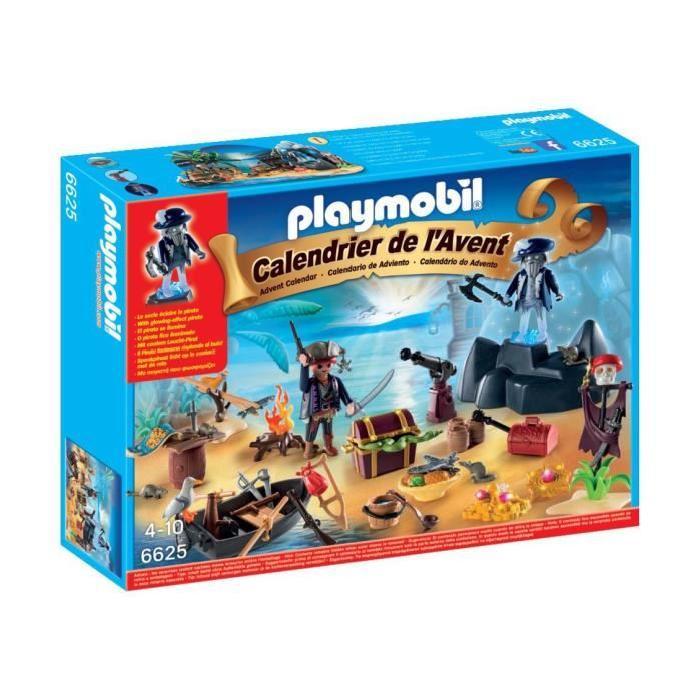 """PLAYMOBIL 6625 Calendrier de l'Avent """"Ile des pirates"""""""