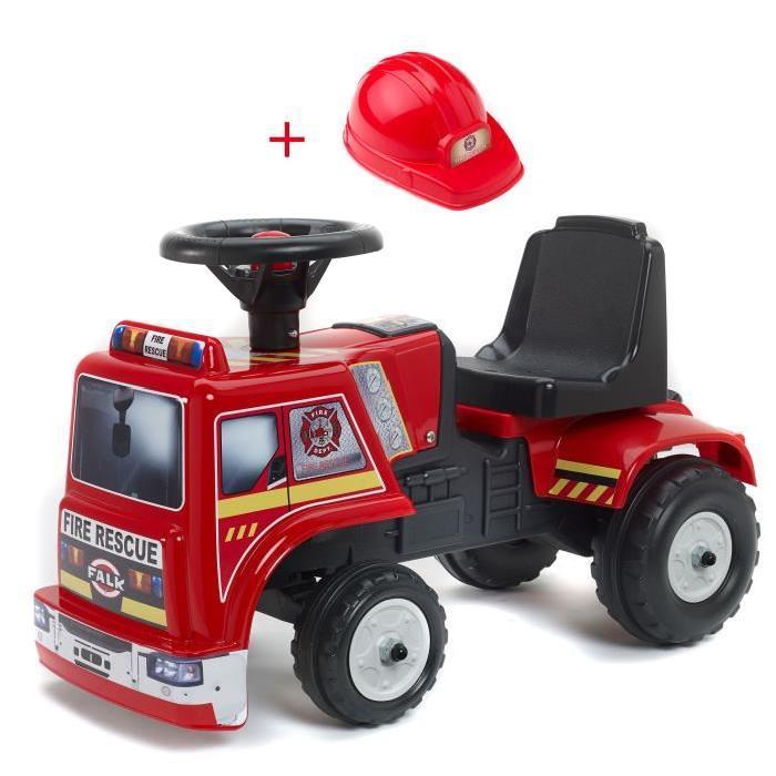 FALK Porteur Enfant bébé Pompier Fire Rescue + Casque
