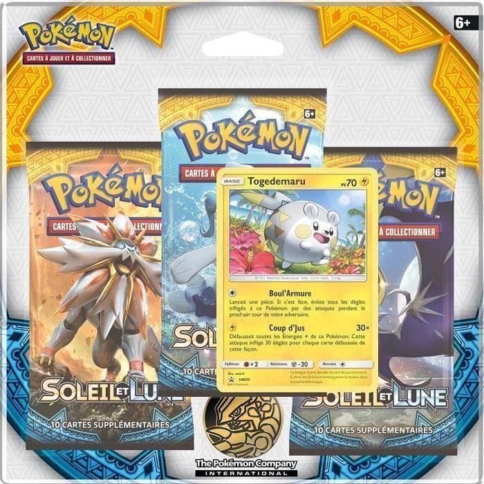 POKEMON Pack 3 boosters Pokémon SL01 Lune & Soleil