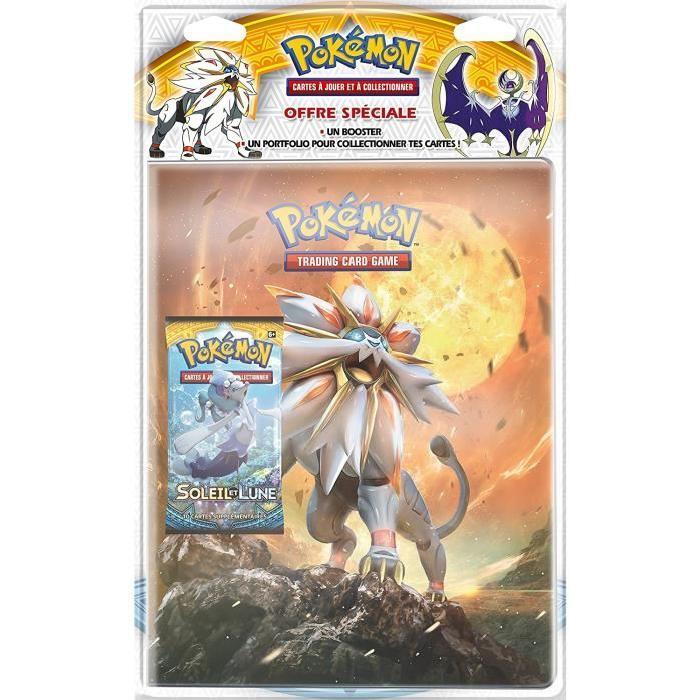 "POKEMON Pack cahier range-cartes +  booster ""Pokémon SL01"