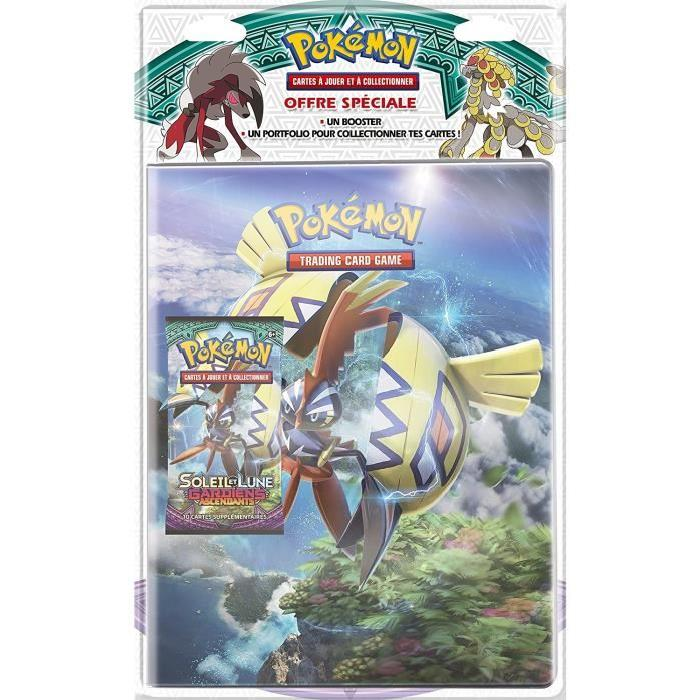 POKEMON Pack cahier range-cartes +  booster SL02