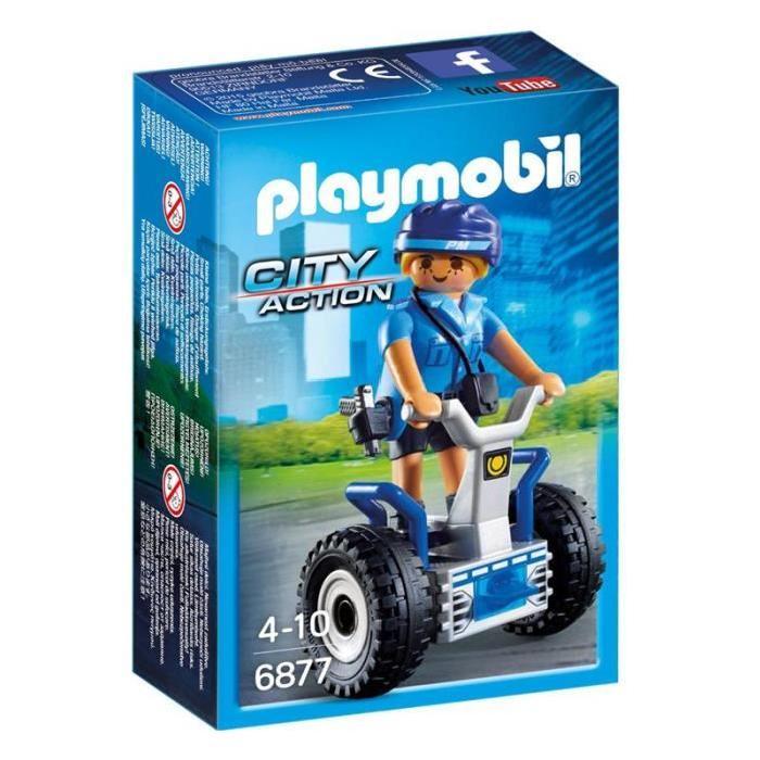PLAYMOBIL 6877 Policiere avec Gyropode