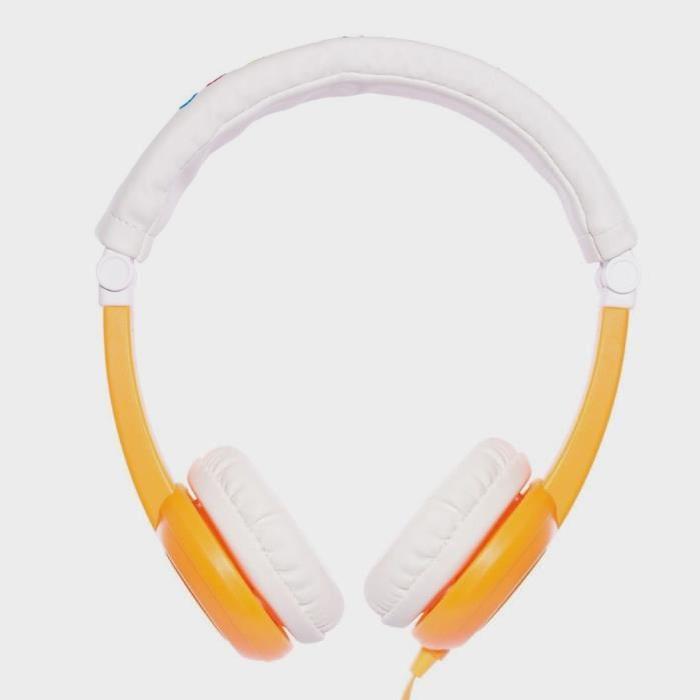 ONANOFF Casque Audio Buddyphones Pliable de Voyage pour Enfant - Orange