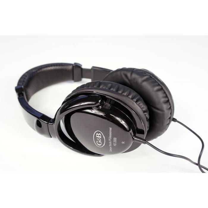 GNB Casque audio pro HD2000 noir
