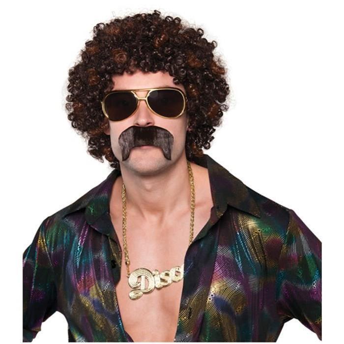 AMSCAN Perruque et Moustache Disco Accessoire Années 70