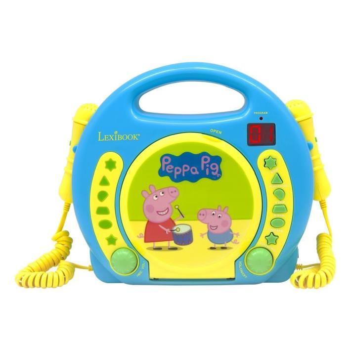 Peppa Pig - Lecteur Cd avec 2 Micros