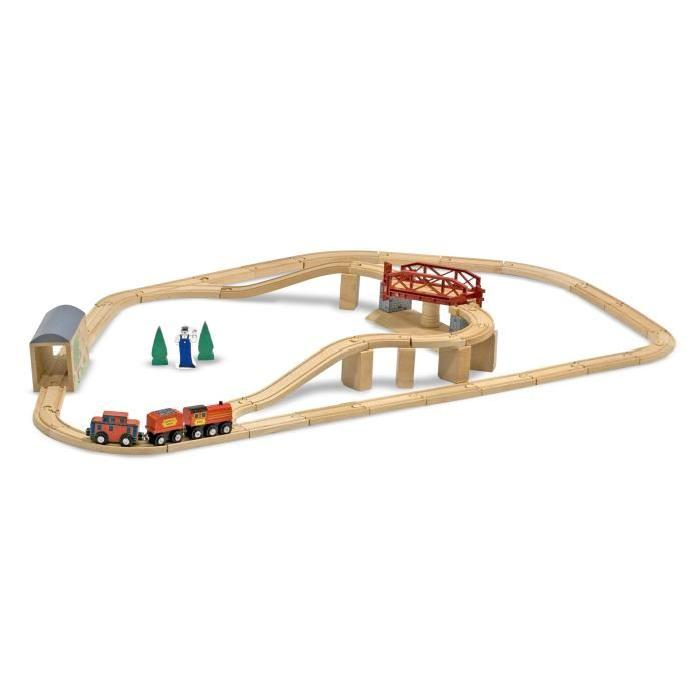 MELISSA & DOUG Ensemble De Train Pont Pivotant