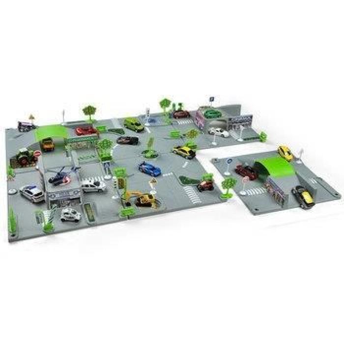 NOREV Circuit Modulable 3D City 6 Plaques + 1 Vehicule