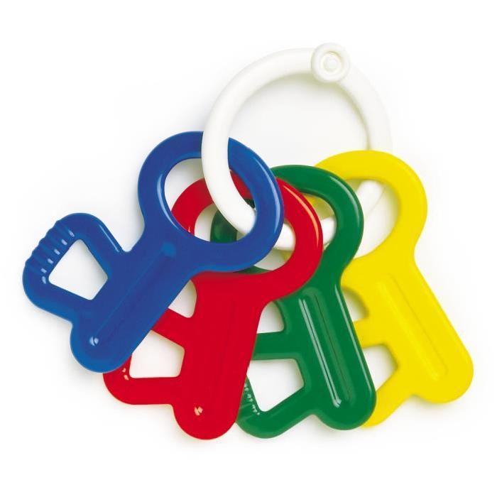 AMBITOYS Mes premieres clés - 3 mois - Multicolore - Plastique - 7 x 3 x 5 cm