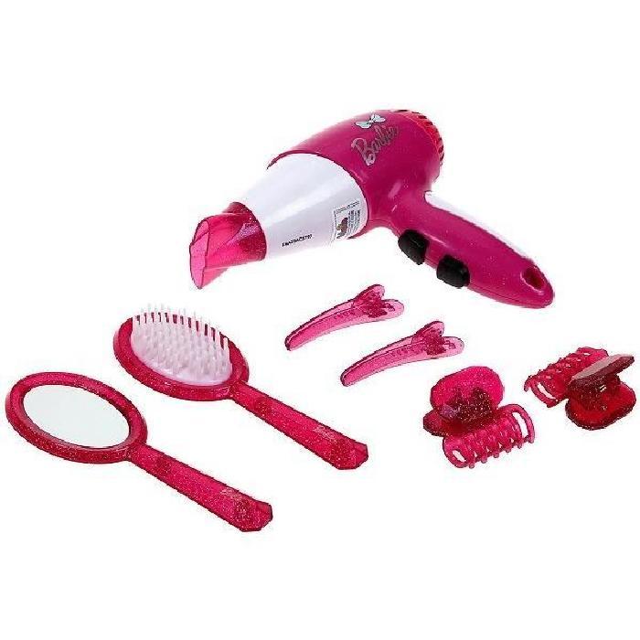 BARBIE Set de coiffure avec seche cheveux 7 pieces
