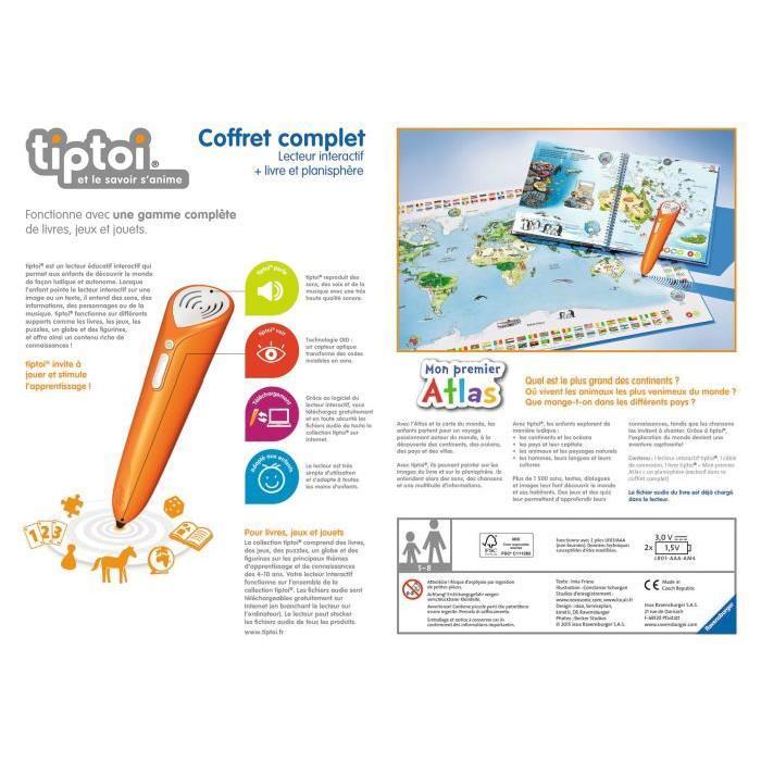 TIPTOI Coffret Complet Lecteur Interatif + Livre et Planisphere