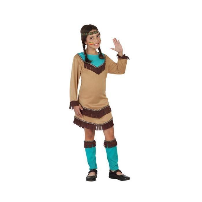 ATOSA Deguisement D'Indienne Fille - Panoplie Enfant