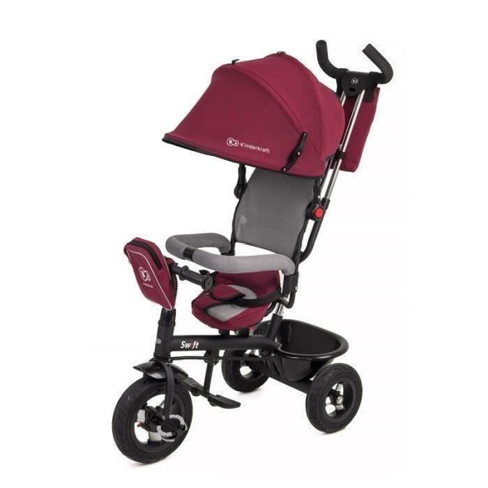 SWIFT TRICYLE ROUGE 3 roues Enfant bébé de 1 a 5 ans poussette évolutif