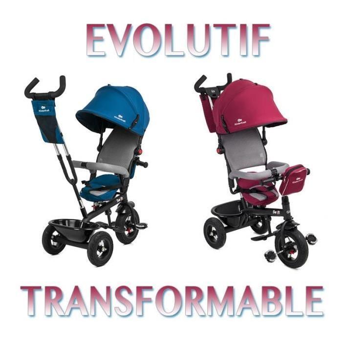 SWIFT TRICYLE BLEU 3 roues Enfant bébé de 1 a 5 ans poussette évolutif