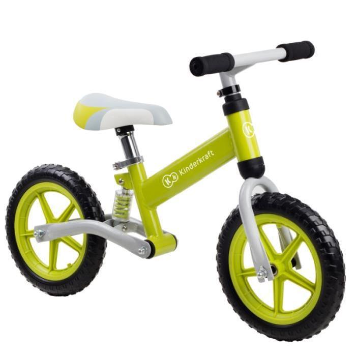 Draisienne EVO AMORTISSEUR VERT Draisienne vélo de marche sans pédales tres résistant