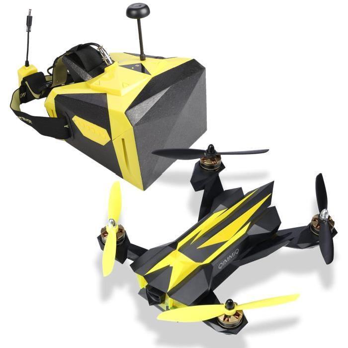 Pack QIMMIQ QIF RACER Drone Jaune + Casque Réalité Virtuelle
