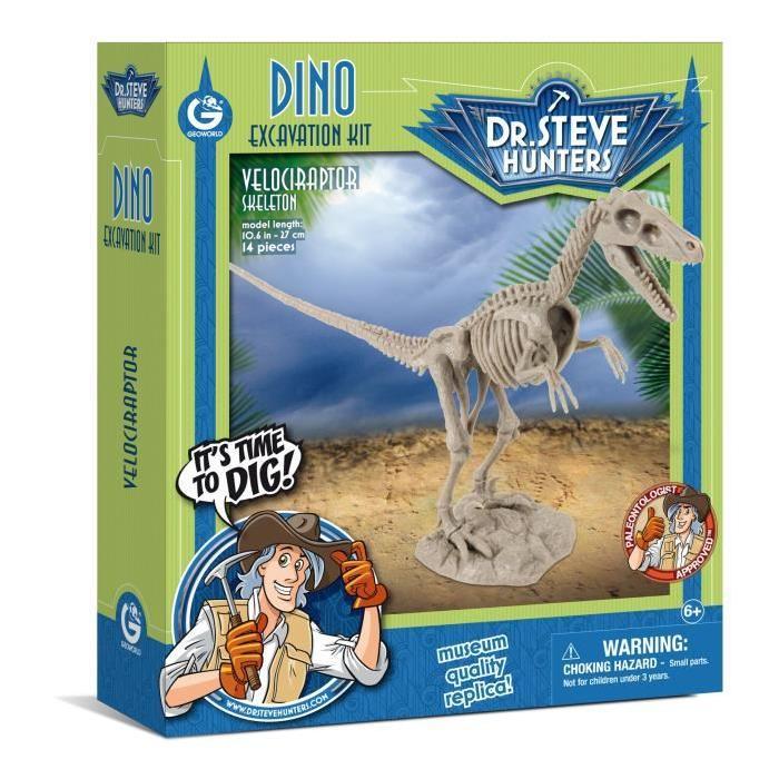 GEOWORLD Excavation Kit Dino - Velociraptor