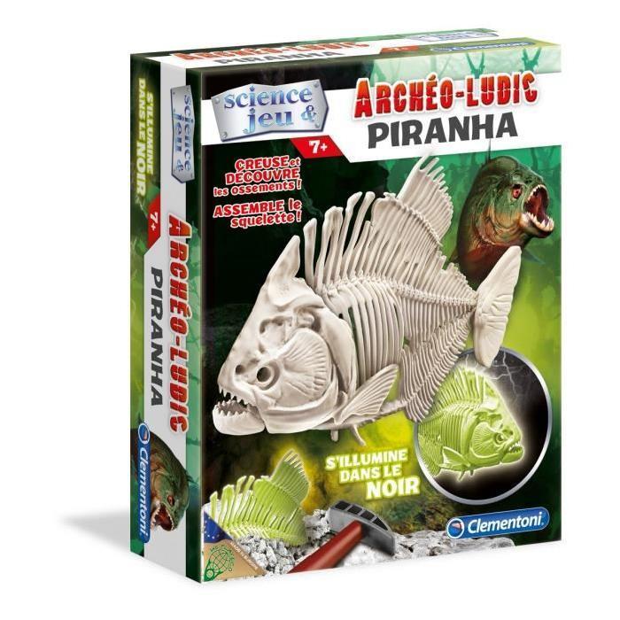 CLEMENTONI Archéo Ludic Piranha - Phosphorescent