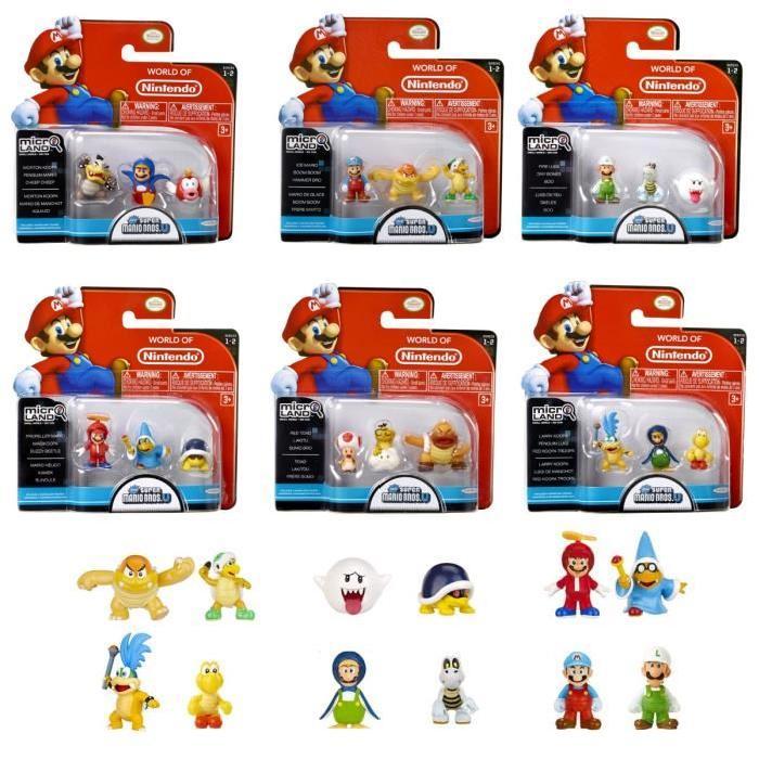 Micro Figurines Mario Nintendo - Pack de 3 - Série 2 - Modele Aléatoire