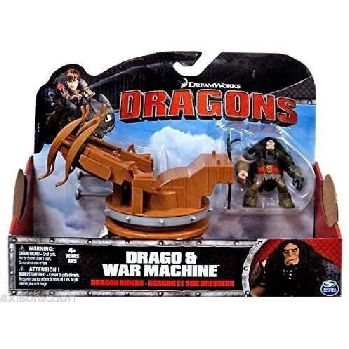 DRAGONS Figurine Dragon Et Son Dresseur Dragons Spin Drago & War Machine