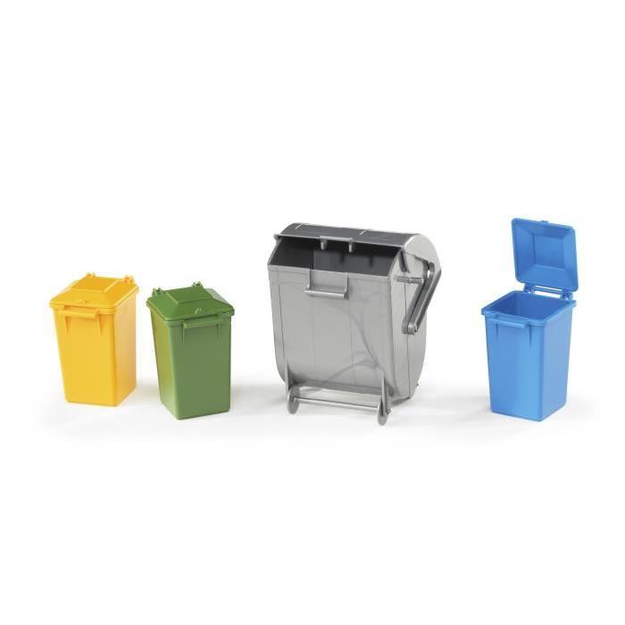 BRUDER - Assortiment de poubelles