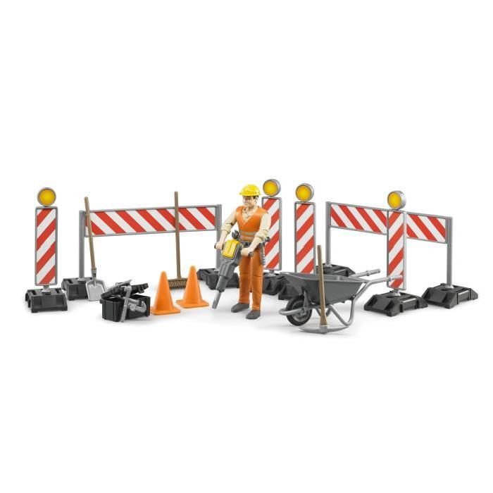 BRUDER - Set de construction Bworld avec figurine