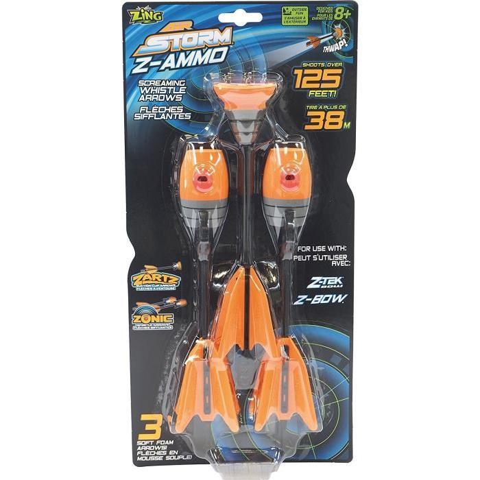 Fleches Z-Ammo (2 fleches sifflantes + 1 fleche ventouse)