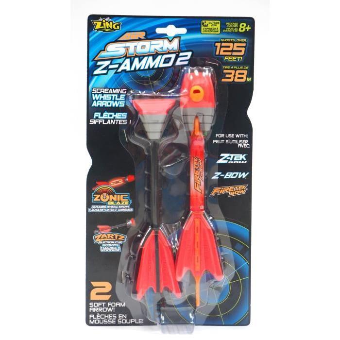 Fleches Z-Ammo 2 (1 fleche sifflante et lumineuse + 1 fleche ventouse)