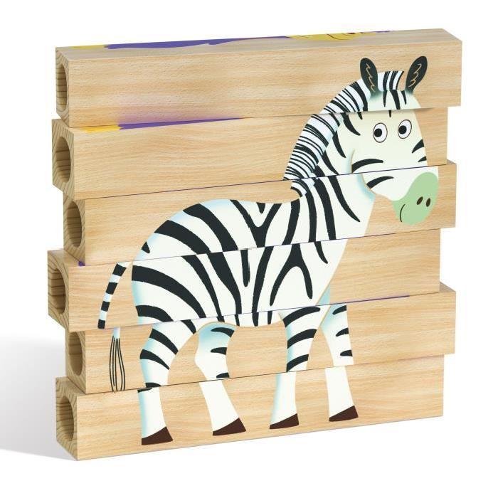QUERCETTI Puzzles bois Jungle - 4 motifs