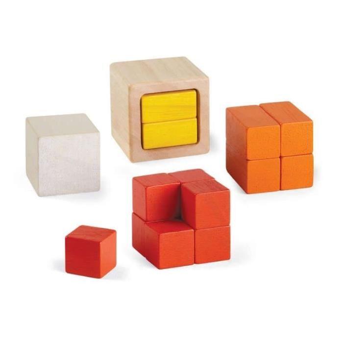 PLAN TOYS Jeu en bois Cubes fraction