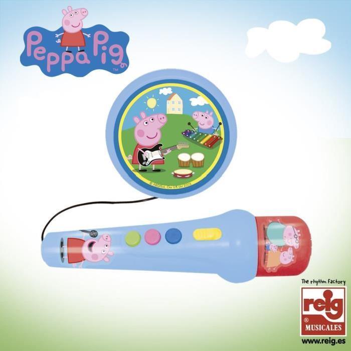PEPPA PIG Micro a Main avec Ampli et Rythmes