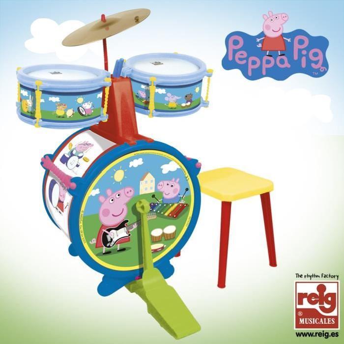 PEPPA PIG Batterie avec Tabouret