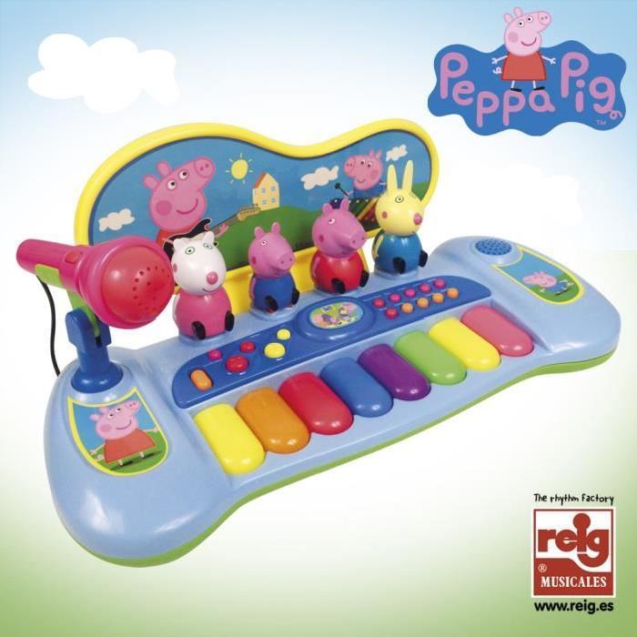 PEPPA PIG Orgue avec Personnages, Micro et Mélodie