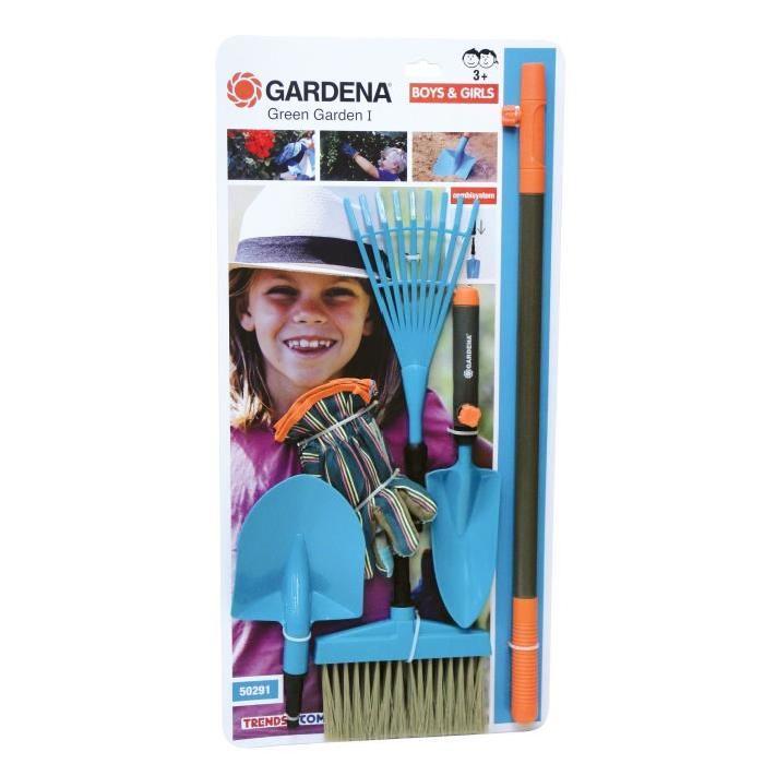 GARDENA  Set d'outils de jardinage La main verte - Enfant a partir de 3 ans