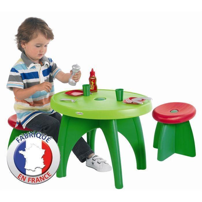 ECOIFFIER JARDIN Table et Tabourets