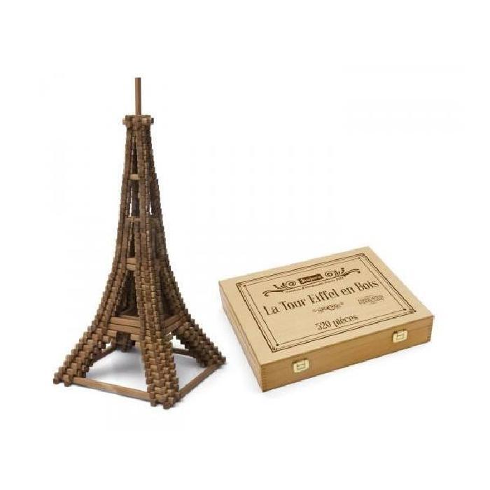 JEUJURA La tour Eiffel - 520 pieces - Coffret en bois